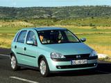 Photos of Opel Corsa 5-door (C) 2000–03