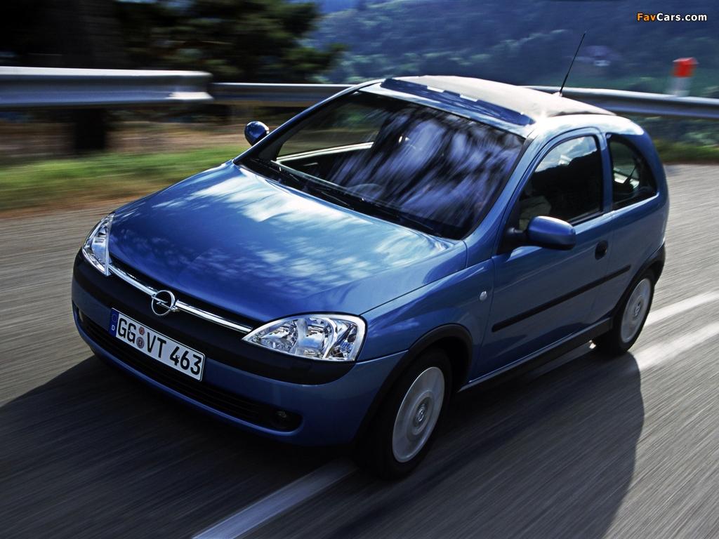 Photos of Opel Corsa Canvas Top (C) 2000–03 (1024 x 768)