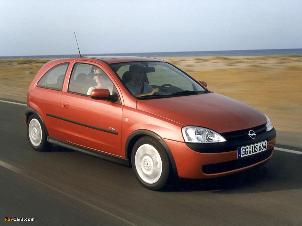 Photos of Opel Corsa GSi (C) 2000–06 (1024 x 768)