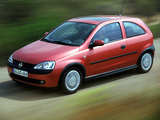 Photos of Opel Corsa 3-door (C) 2000–03