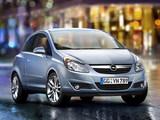 Photos of Opel Corsa 3-door (D) 2006–09