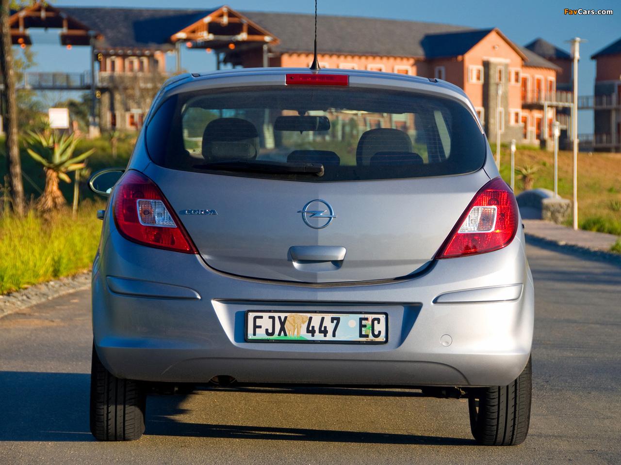 Photos of Opel Corsa 5-door ZA-spec (D) 2007–09 (1280 x 960)