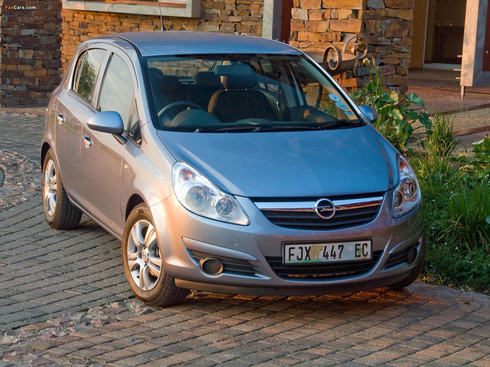 Photos of Opel Corsa 5-door ZA-spec (D) 2007–09 (1600 x 1200)