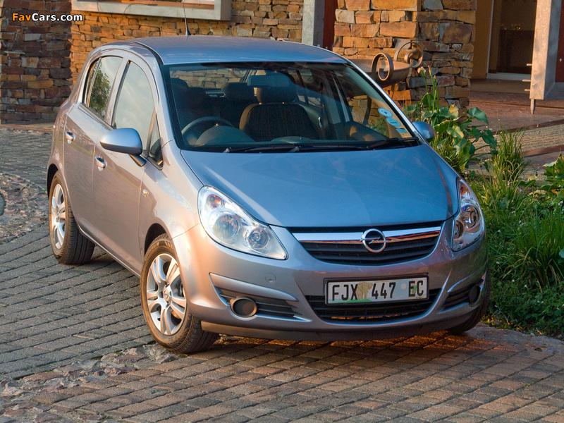 Photos of Opel Corsa 5-door ZA-spec (D) 2007–09 (800 x 600)