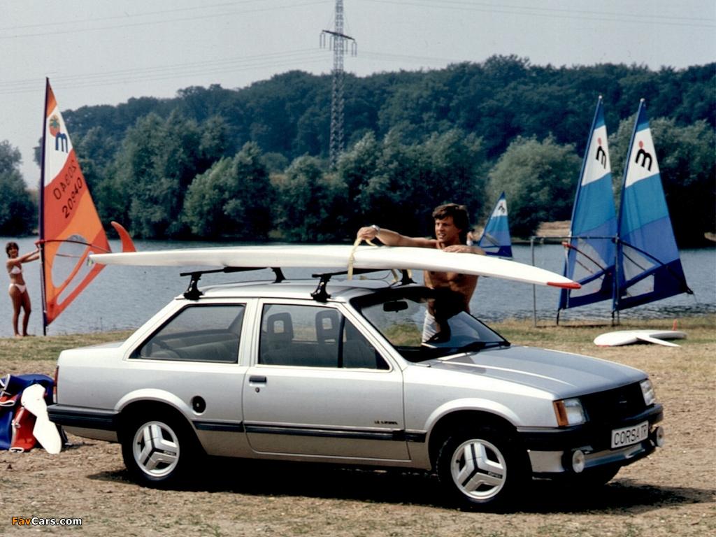 Pictures of Opel Corsa TR 2-door (A) 1983–85 (1024 x 768)