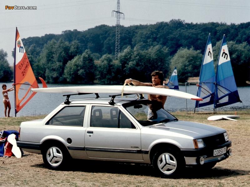 Pictures of Opel Corsa TR 2-door (A) 1983–85 (800 x 600)
