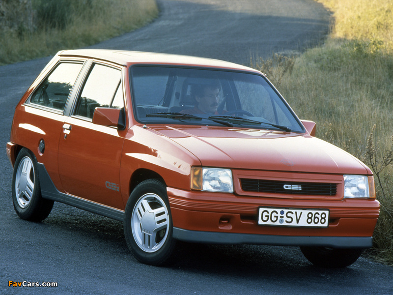 Pictures of Opel Corsa GSi (A) 1988–90 (800 x 600)