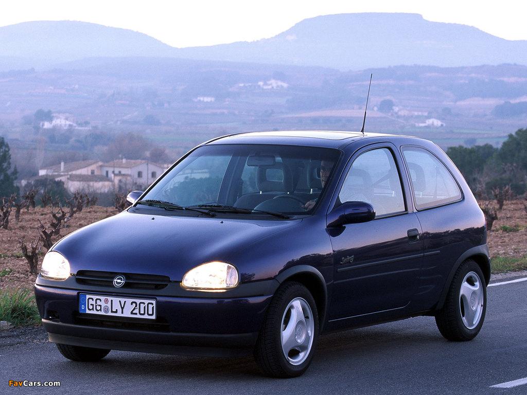 Pictures of Opel Corsa Swing 3-door (B) 1998–2000 (1024 x 768)