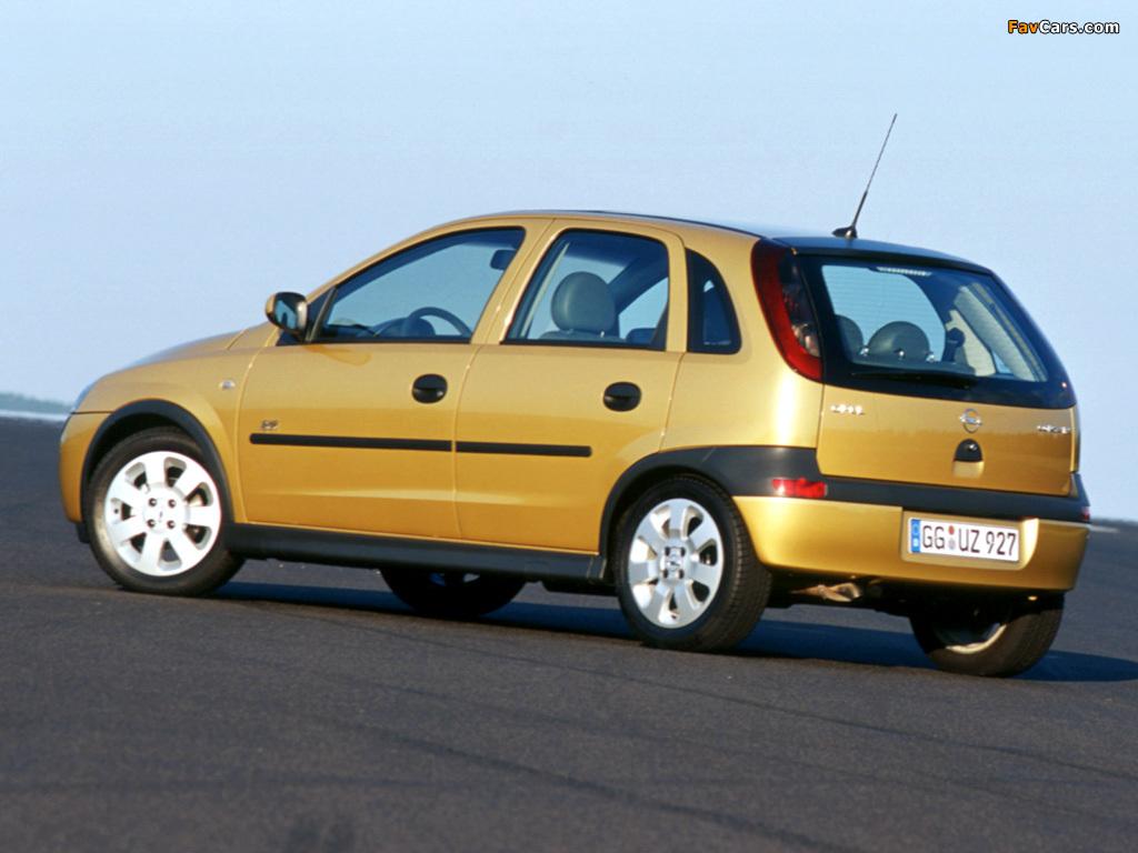Pictures of Opel Corsa 5-door (C) 2000–03 (1024 x 768)