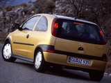 Pictures of Opel Corsa 3-door (C) 2000–03