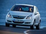 Pictures of Opel Corsa 3-door (D) 2009–10