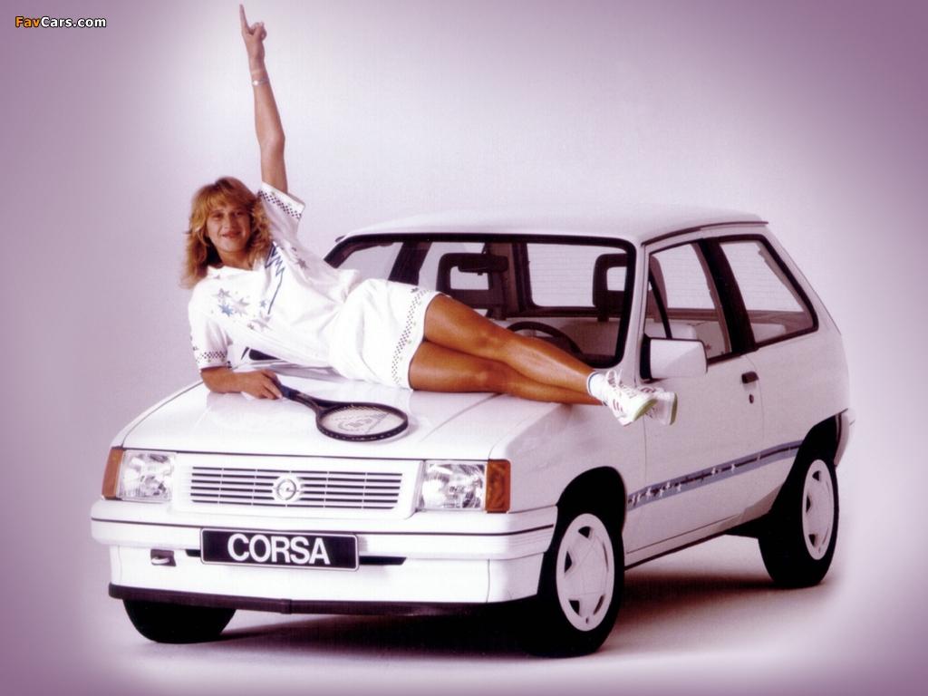 Opel Corsa Steffi Graf Special (A) 1986–89 wallpapers (1024 x 768)