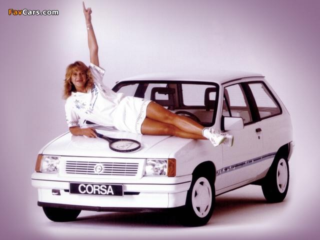 Opel Corsa Steffi Graf Special (A) 1986–89 wallpapers (640 x 480)