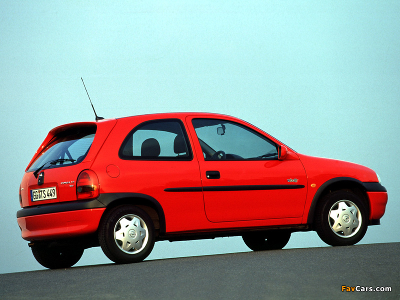 Opel Corsa 3-door (B) 1997–2000 wallpapers (800 x 600)