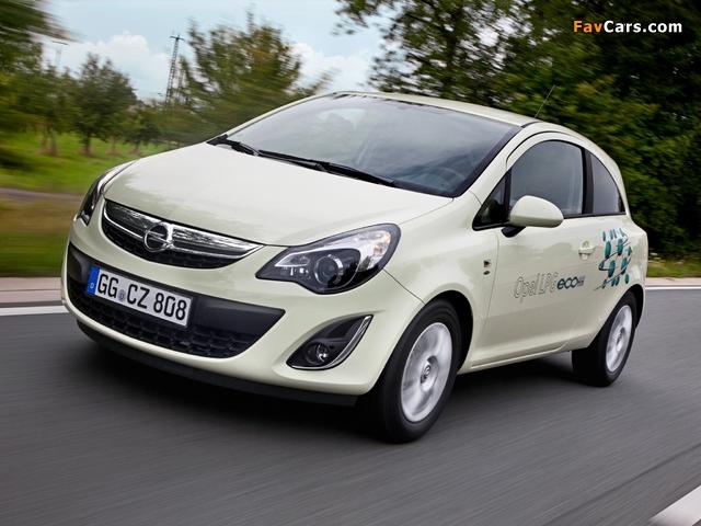 Opel Corsa 3-door ecoFLEX (D) 2010 wallpapers (640 x 480)
