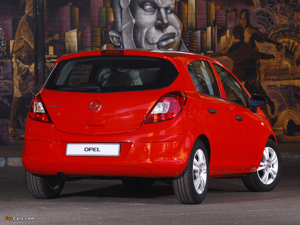 Opel Corsa 5-door ZA-spec (D) 2011 wallpapers (1024 x 768)