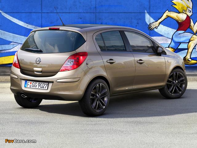 Opel Corsa Kaleidoscope Edition 5-door (D) 2012 wallpapers (640 x 480)