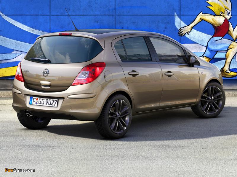 Opel Corsa Kaleidoscope Edition 5-door (D) 2012 wallpapers (800 x 600)