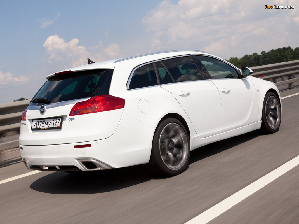 Opel Insignia OPC Sports Tourer 2009–13 pictures (1024 x 768)