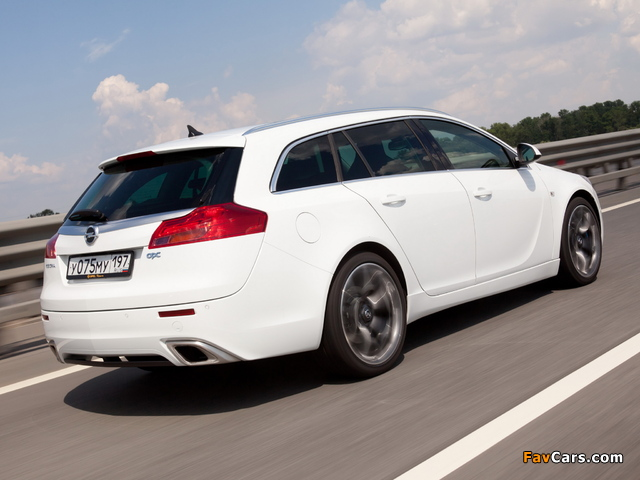 Opel Insignia OPC Sports Tourer 2009–13 pictures (640 x 480)