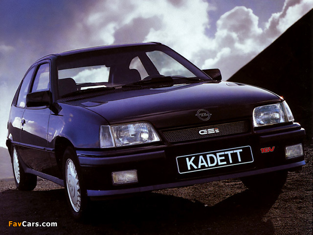 Opel Kadett Gsi 16v 3 Door E 1988 91 Wallpapers 640x480