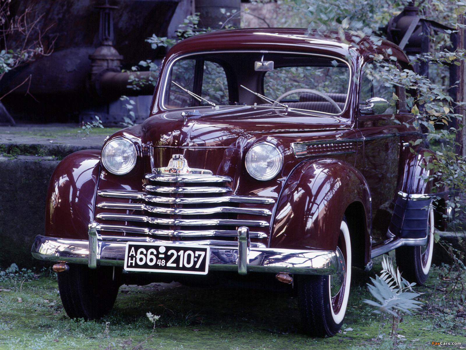 Opel Olympia 2-door Limousine 1950–53 images (1600 x 1200)
