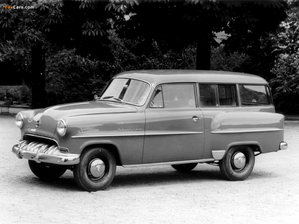 Opel Olympia Rekord Caravan 1953–57 pictures (1024 x 768)