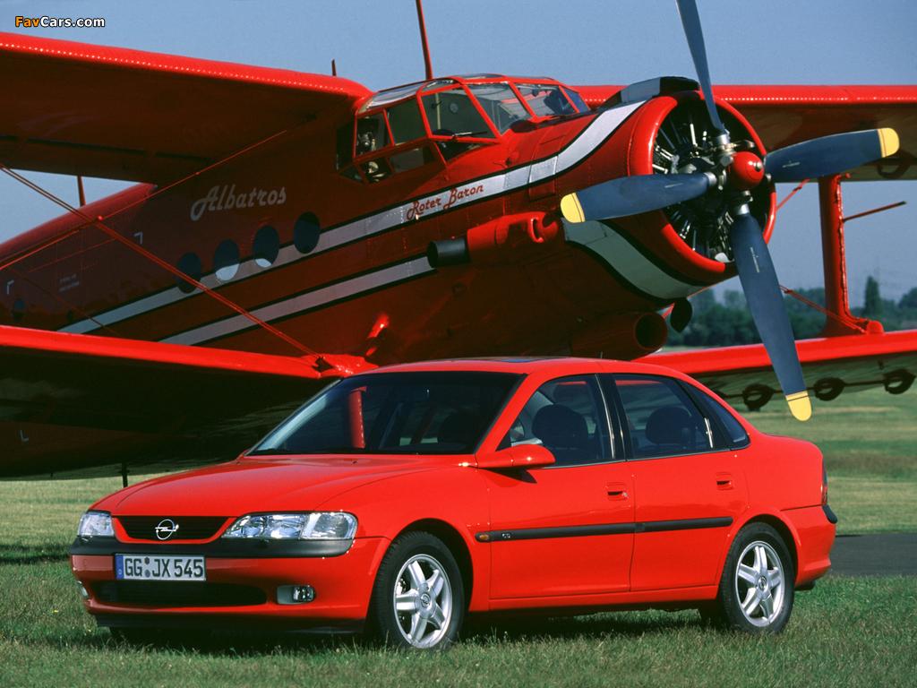 Images of Opel Vectra Sedan (B) 1995–99 (1024 x 768)