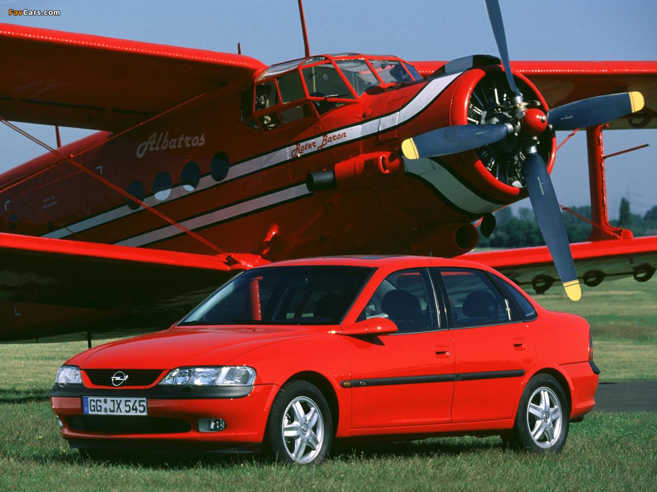 Images of Opel Vectra Sedan (B) 1995–99 (1280 x 960)