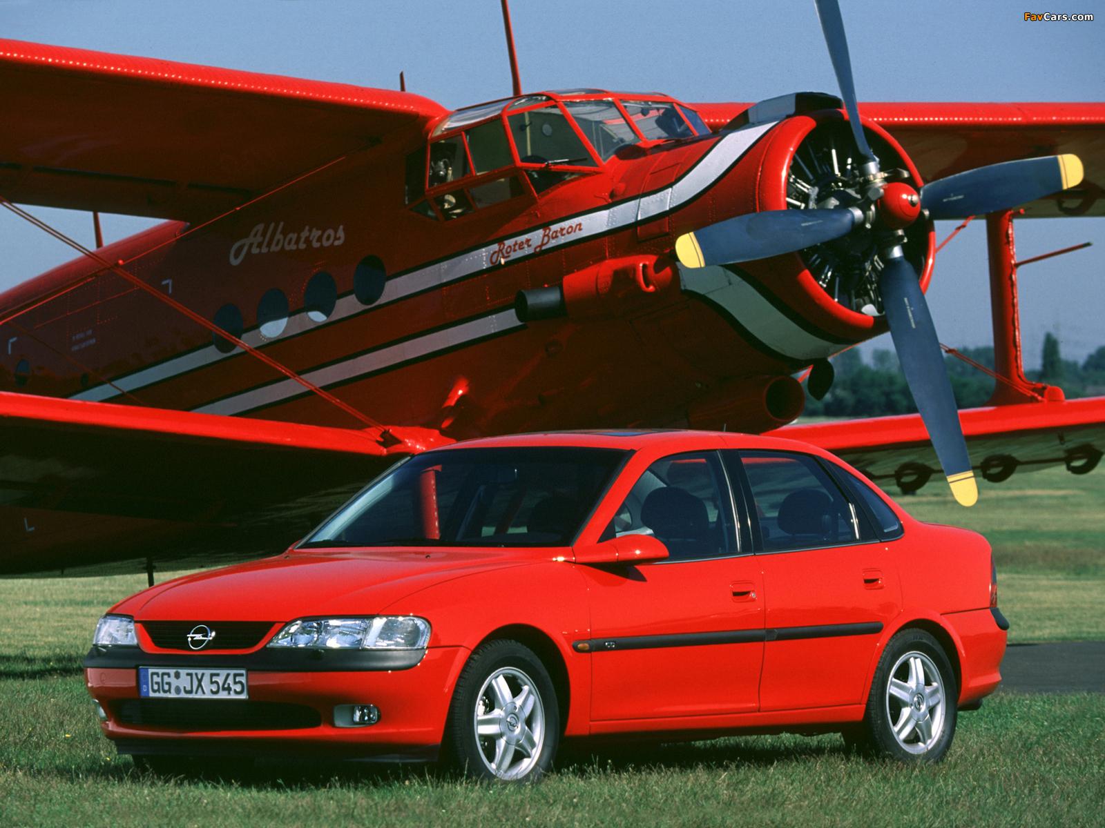 Images of Opel Vectra Sedan (B) 1995–99 (1600 x 1200)