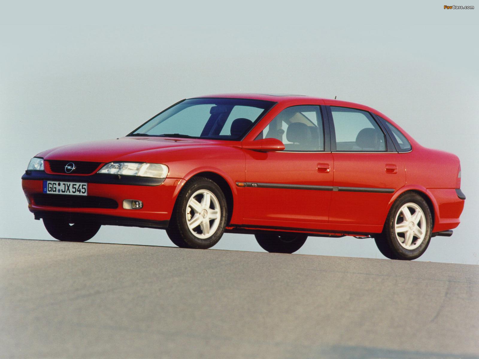 Opel Vectra Sedan (B) 1995–99 photos (1600 x 1200)