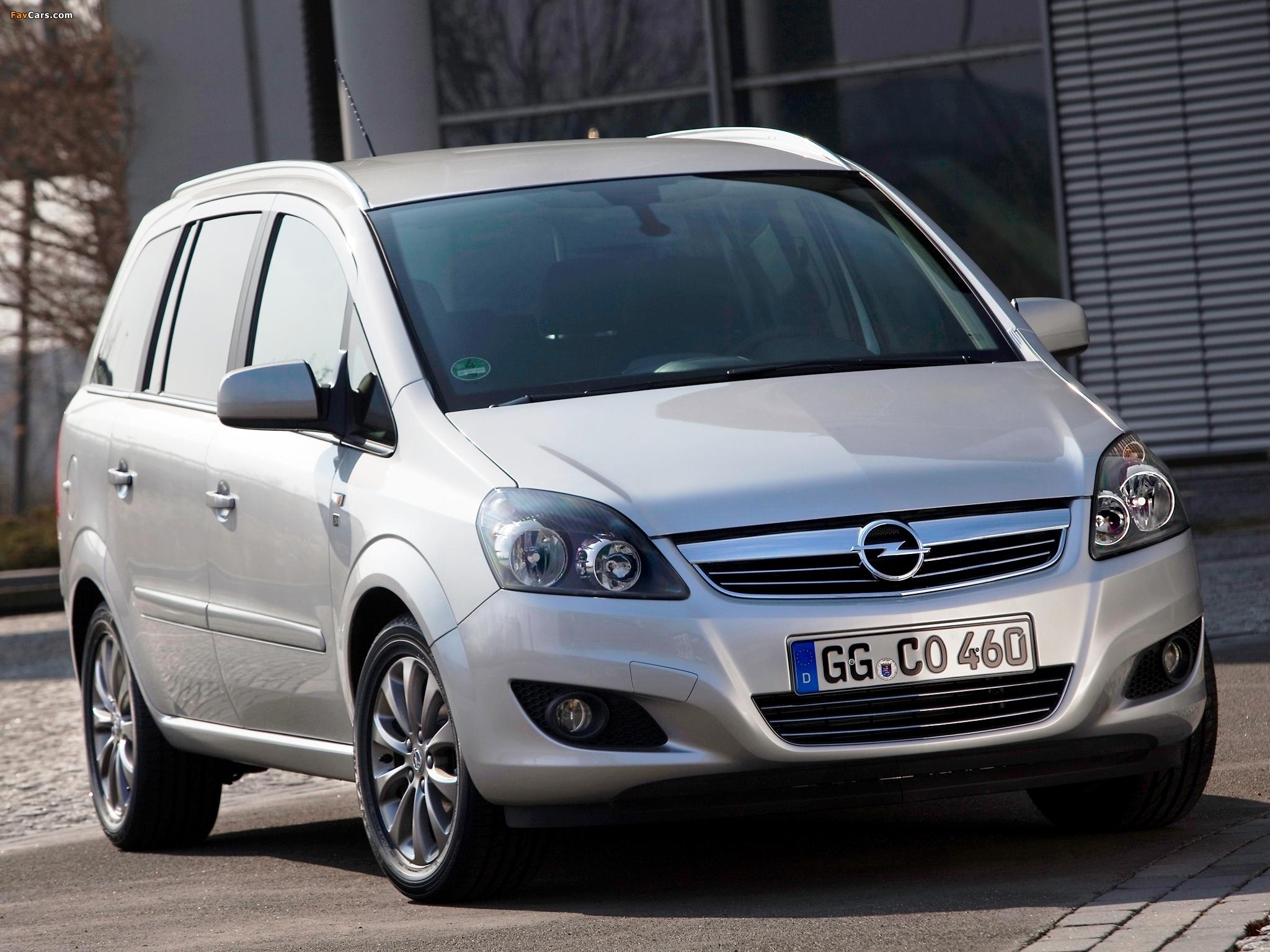 Opel Zafira ecoFLEX (B) 2009 images (2048 x 1536)