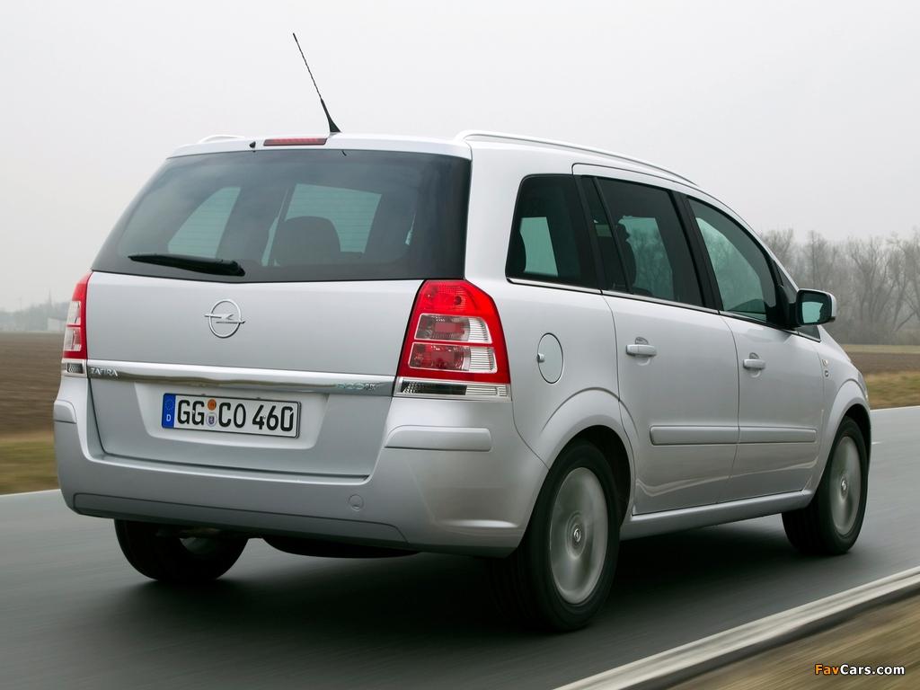 Opel Zafira ecoFLEX (B) 2009 wallpapers (1024 x 768)