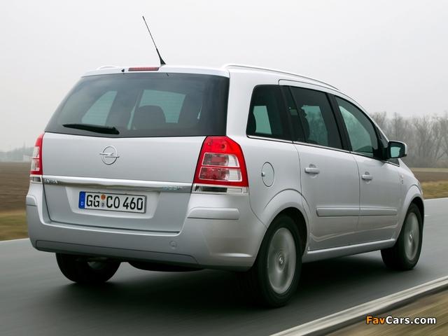 Opel Zafira ecoFLEX (B) 2009 wallpapers (640 x 480)