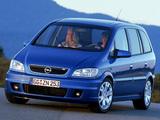Opel Zafira OPC (A) 2001–05 wallpapers