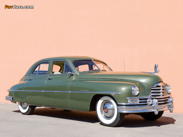 Packard Super Deluxe Eight Touring Sedan 1949 photos (640 x 480)