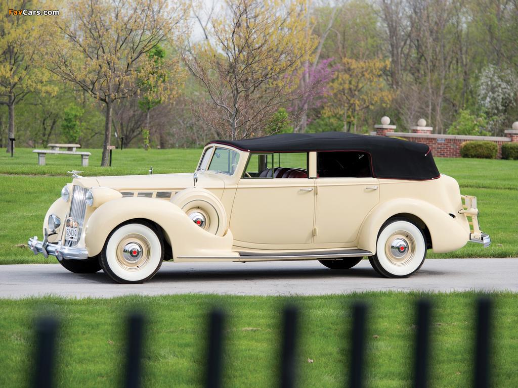 Images of 1938 Packard Super Eight Convertible Sedan (1605-1143) 1937–38 (1024 x 768)