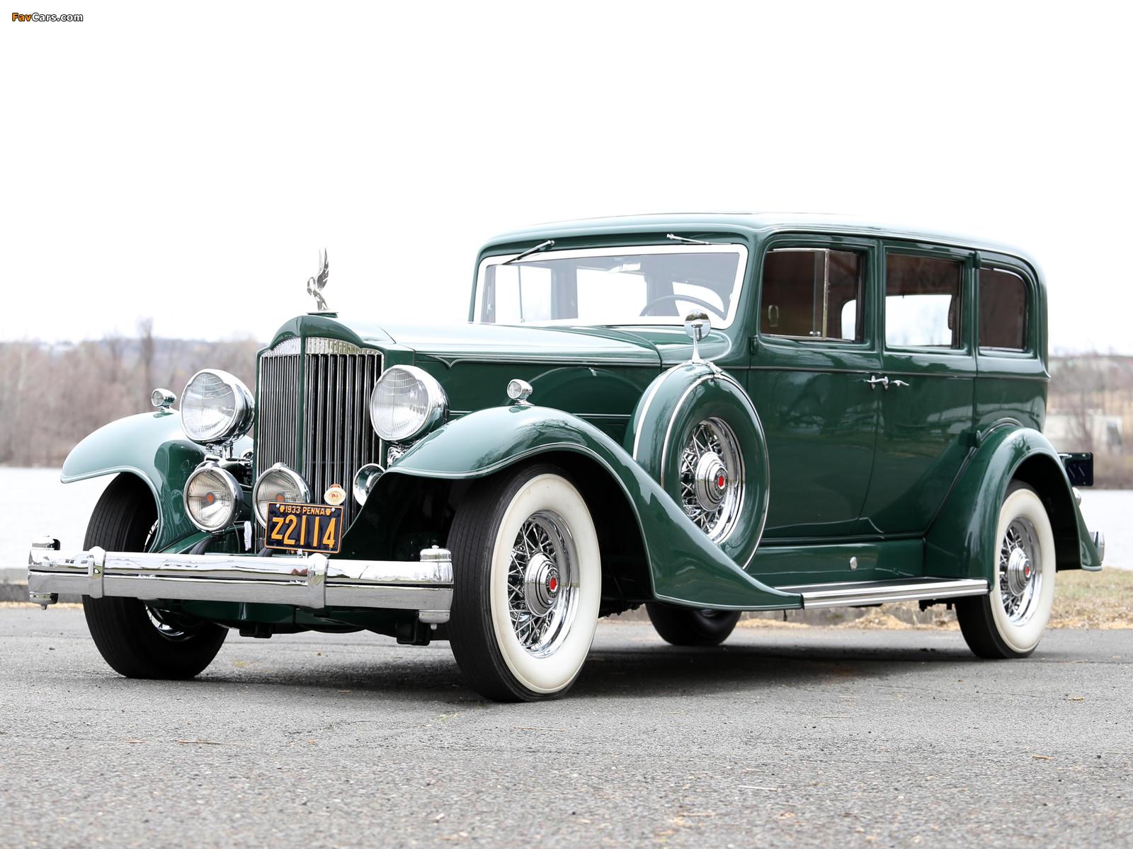 1933 Packard Super Eight 7-passenger Sedan (1004-654) 1933 wallpapers (1600 x 1200)
