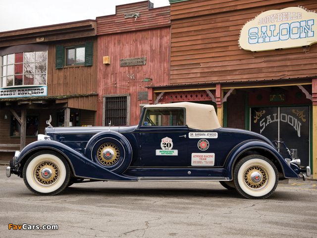 Packard Super Eight Coupe Roadster (1104-759) 1934 wallpapers (640 x 480)
