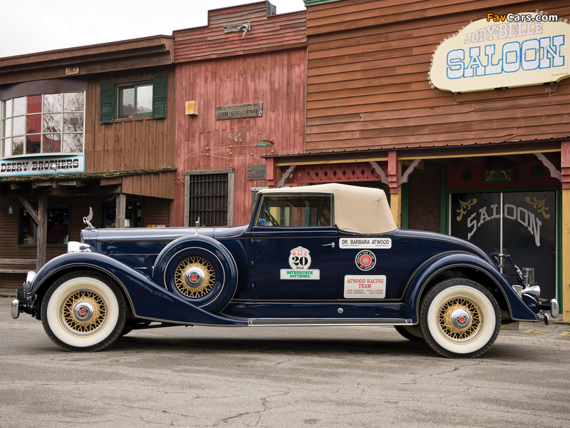 Packard Super Eight Coupe Roadster (1104-759) 1934 wallpapers (800 x 600)