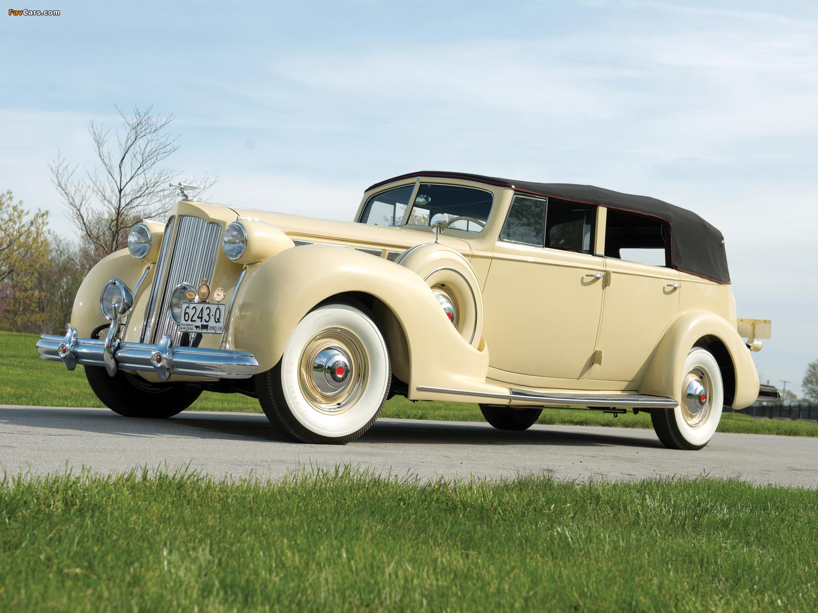 1938 Packard Super Eight Convertible Sedan (1605-1143) 1937–38 images (1600 x 1200)