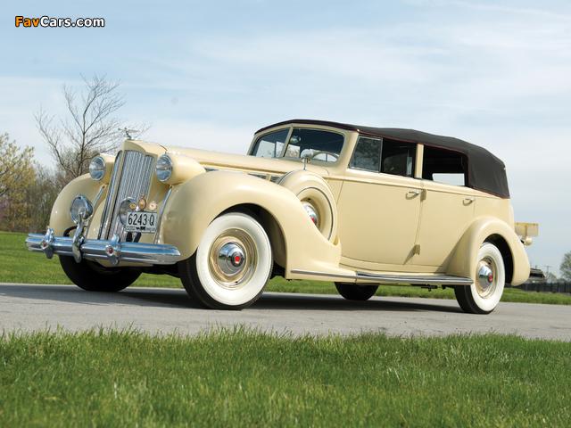 1938 Packard Super Eight Convertible Sedan (1605-1143) 1937–38 images (640 x 480)