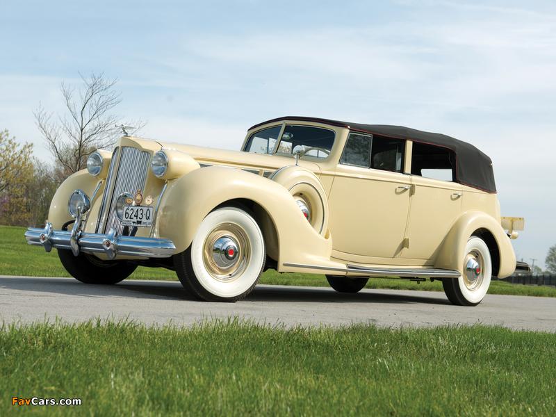 1938 Packard Super Eight Convertible Sedan (1605-1143) 1937–38 images (800 x 600)