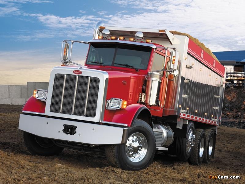 Peterbilt 367 Dump Truck 2007 wallpapers (800 x 600)