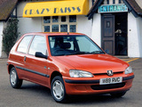 Peugeot 106 UK-spec 1996–2003 images