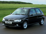 Peugeot 106 GTI UK-spec 1996–2003 wallpapers