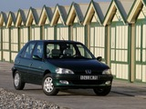 Peugeot 106 Roland Garros 5-door 1996 wallpapers