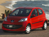Images of Peugeot 107 5-door ZA-spec 2006–10