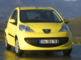Peugeot 107 3-door 2005–08 photos