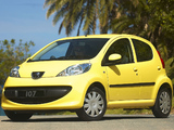 Peugeot 107 5-door ZA-spec 2006–10 pictures